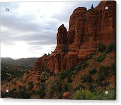 The Beautiful Hillside Of Sedona On A Cloudy Afternoon Acrylic Print