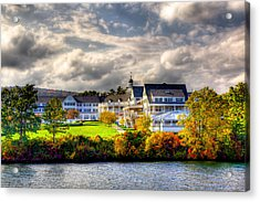 The Beautiful Sagamore Hotel On Lake George Acrylic Print by David Patterson