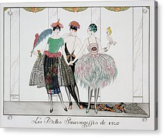 The Beautiful Savages Acrylic Print by Georges Barbier