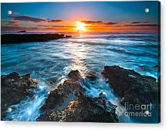 The Beautiful Sunset Beach Acrylic Print by Boon Mee