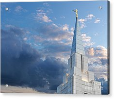 The Beautiful Vancouver Lds Temple. Acrylic Print by Laurent Lucuix