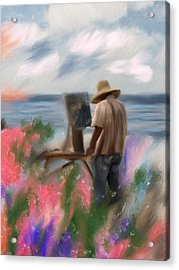 The Beauty Of A Painter Acrylic Print by Angela A Stanton