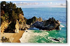 The Beauty Of Big Sur Acrylic Print by Benjamin Yeager