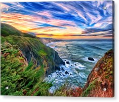 Acrylic Print featuring the painting The Beauty Of Big Sur by Michael Pickett