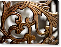 The Beauty Of Brass Scrolls 1 Acrylic Print