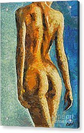 The Beauty Of Female Body Acrylic Print