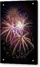 The Beauty Of Fireworks Acrylic Print by Garry Gay