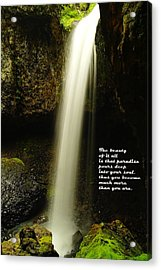 The Beauty Of It All Acrylic Print by Jeff Swan