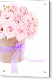 The Beauty Pink Roses Acrylic Print by Boon Mee