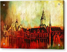 The Belfries Of Belgium And France  Acrylic Print by Catf