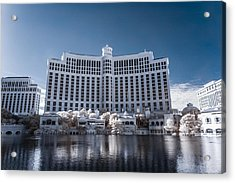 The Bellagio Hotel And Casino In Infrared Acrylic Print
