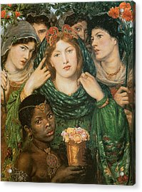 The Beloved-the Bride Acrylic Print by Dante Gabriel Rossetti