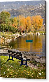 The Bench Acrylic Print by Alfio Finocchiaro