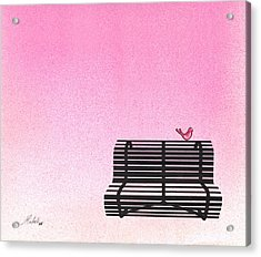 The Bench Acrylic Print by Daniele Zambardi