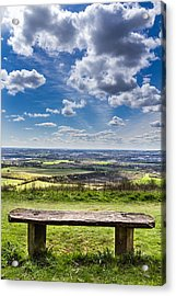 The Bench. Acrylic Print by Gary Gillette
