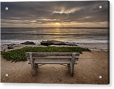 The Bench IIi Acrylic Print by Peter Tellone
