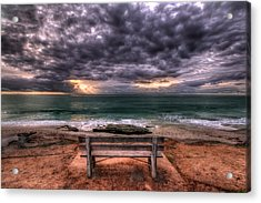 The Bench - Lrg Print Acrylic Print by Peter Tellone