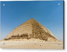 The Bent Pyramid Built By Old Kingdom Acrylic Print by Nico Tondini