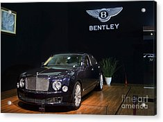 Acrylic Print featuring the photograph The Bentley Mulsanne Mulliner by Mohamed Elkhamisy