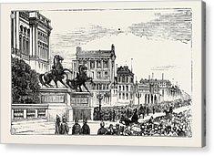 The Berlin Congress,entrance To The Royal Castle Acrylic Print