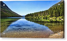 The Best Beach In Glacier National Park Panorama 2 Acrylic Print by Scotts Scapes