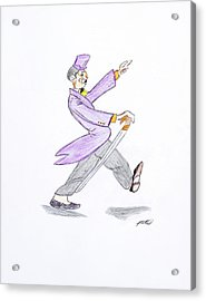 Acrylic Print featuring the drawing The Best Man by Artists With Autism Inc