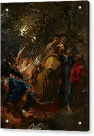 The Betrayal Of Christ Acrylic Print by Anthony Van Dyck