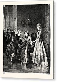 The Betrothal Acrylic Print by Erdmann, Otto (1834-1905), German