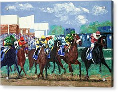 The Bets Are On Again Acrylic Print by Anthony Falbo