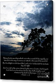The Bible Psalm 1 Acrylic Print