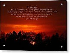 The Bible Says Acrylic Print by Reid Callaway
