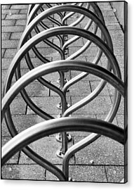 The Bicycle Rack Acrylic Print by Geraldine Alexander
