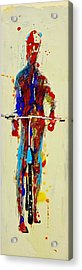 The Bicyclist Acrylic Print by Jean Cormier