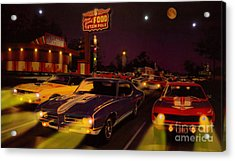 The Big 3 Street Racing Acrylic Print by Al Bourassa