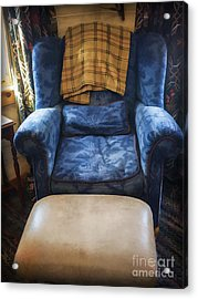 The Big Blue Chair - Oil Acrylic Print by Edward Fielding