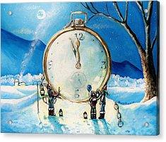 The Big Countdown Acrylic Print by Shana Rowe Jackson
