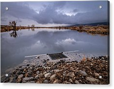 The Big Drain Acrylic Print by Cat Connor