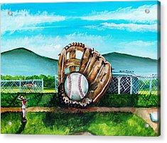 The Big Leagues Acrylic Print by Shana Rowe Jackson