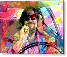 The Big Lebowski Acrylic Print by David Lloyd Glover