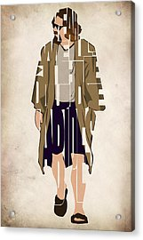 The Big Lebowski Inspired The Dude Typography Artwork Acrylic Print by Inspirowl Design
