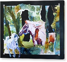 The Big Redo Acrylic Print by P Maure Bausch