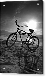 The Bike Acrylic Print by Peter Tellone
