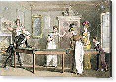 The Billiard Table, From The Tour Of Dr Acrylic Print by Thomas Rowlandson