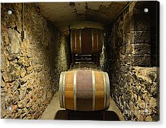 The Biltmore Estate Wine Barrels Acrylic Print by Luther Fine Art