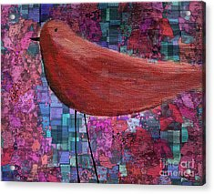 The Bird - 23a01a Acrylic Print by Variance Collections