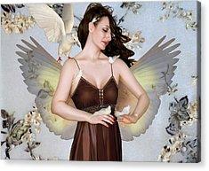 The Bird Whisperer - Self Portrait Acrylic Print by Jaeda DeWalt