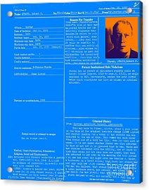 The Birdman Of Alcatraz 20130320 - Blue Acrylic Print by Wingsdomain Art and Photography