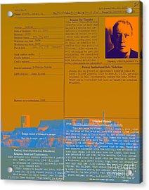 The Birdman Of Alcatraz San Francisco 20130323v1 Acrylic Print by Wingsdomain Art and Photography