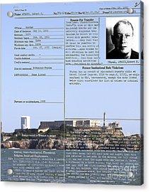 The Birdman Of Alcatraz San Francisco 20130323v2 Acrylic Print by Wingsdomain Art and Photography