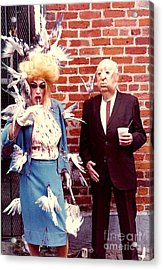 New Orleans The Birds And Alfred Hitchcock Mardi Gras Day In The French Quarter In Louisiana Acrylic Print